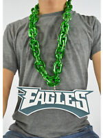 New NFL Philadelphia Eagles Green Fan Chain Necklace Foam Magnet - 2 in 1