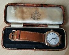 Vintage .375 9ct Gold Omega Wrist Watch + Period Box 9ct Gold Omega Buckle
