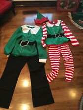 Adult Elf Costumes Large Tops L Bottoms M Christmas