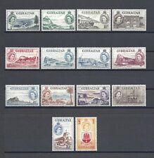 GIBRALTAR 1953-59 SG 145/58 MNH Cat £180