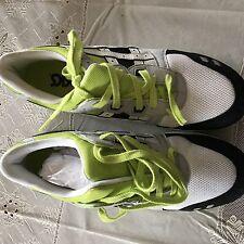 Grey/black/white/green Asics Gel Lyte III Men's Size 9.5 H307N
