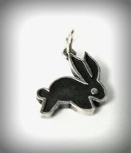 Retired James Avery Bunny Rabbit Vintage Charm or Pendant Oxidized CUTE!
