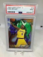 1996 Fleer Lucky 13 #13 Kobe Bryant RC HOF PSA 9 Freshly Graded