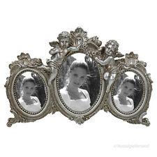 Barock Bilderrahmen Rokoko Multi Fotorahmen Silber Engel 3 Fotos 9x13 6x9 Antik