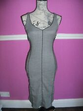 COAST BLACK GREY WOOL BLEND STRETCH WIGGLE FISHTAIL FITTED BODYCON DRESS 10 8