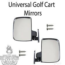 EZGO, Club Car, Yamaha Golf Cart Universal Review Mirrors Side Mount Mirror
