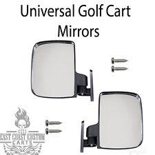 EZGO, Club Car, Yamaha Golf Cart Universal Review Mirrors Side Mount Mirror