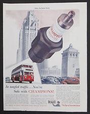 Champion Spark Plugs Vintage Original 1939  Print Ad