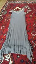 Myrine & Me Stretchy Silvery Taupe Lagenlook Dress With Scrunch Sides Size XL