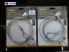 2 x Targus Defcon KL KEY OPERATED Cable Lock 2 KEYS ASP48AU CABLE 1.82m Notebook
