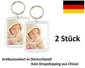 ★ 2 Stück XL Acryl Foto Schlüsselanhänger Schutzengel Engel Geschenk Photo Bild