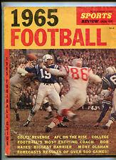 Football Guide 1965  Bill Munson Johnny Unitas Max McGee   MBX108
