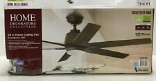 "Home Decorators 54"" Ceiling Fan Kensgrove Light Kit, Remote Control Espresso"