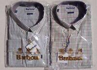 Barbour Charles Men's Tattersall  Long Sleeve Shirt - Purple, Lawn, L, XL, XXL