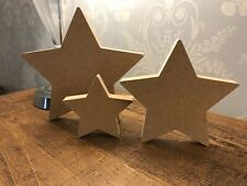 Freestanding 18mm thick  large MDF Wooden star Christmas Shape, Crafts