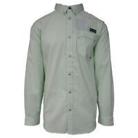 Columbia Men's Light Mint PFG Super Harborside L/S Woven Shirt (Retail $75)