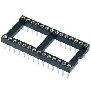 """DIP/DIL Turned Pin IC Socket Connector 0.3"""" or 0.6"""" Pitch"""