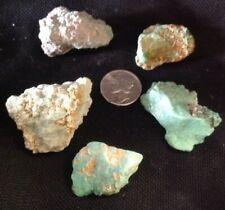 Rough Turquoise and Varascite Stones (5). 41.27 Grams. Royston.