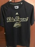 Adidas Kobe Bryant Lakers T Tee Shirt Black Dri-FIT Crew Jersey Size Small S Men