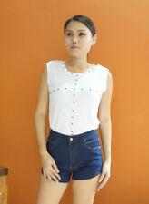 Thanee Studded Sleveless Top White