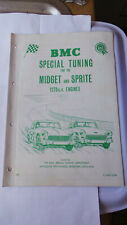 BMC SPECIAL TUNING MANUAL FOR THE MG MIDGET AND AUSTIN HEALEY SPRITE 1275CC AKD