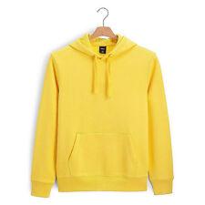 2018New Fashion Classic Unisex Hooded Plain Black Sweatshirt Pullover Hoodie