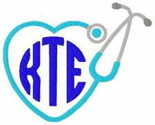 Nurse Stethoscope Machine Embroidery Designs Monogram Embroidery Font Design CD