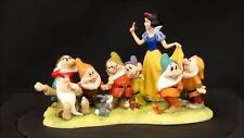 Extremely Rare! Walt Disney Snow White And The Seven Dwarfs Figurine Statue