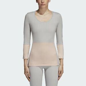 adidas by Stella McCartney Yoga Comfort Tee Top Women Pearl Rose Stone CZ1779