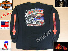 Harley Davidson Long Sleeve Motorcycle Pat Rogers Speedway Concord T shirt 2XL