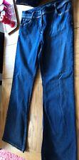 Bootcut Ladies Jeans Size 16 36W 32L Indigo Dark Blue