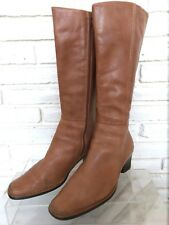 Pikolinos Women's tall knee high Tan brown leather boots Size 10 EUR 40