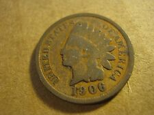 1906 United States Of America Indian Head Penny Wheat One Cent