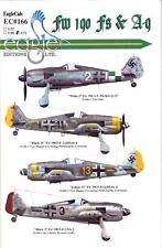 EagleCals Decals 1/72 FOCKE WULF Fw-190F & Fw-190A-9 Fighters