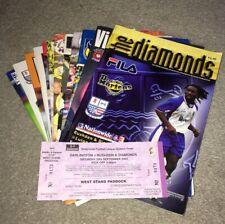 More details for 2001-2/05-06 rushden & diamonds h&a programmes 1st & last league seasons +ticket