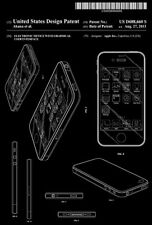 2013 - Apple iPhone Electronic Device With Graphic Interface - Patent Art Poster