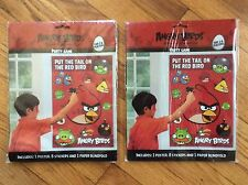 NEW LOT OF 2 ANGRY BIRDS PARTY GAMES , PUT THE TAIL ON THE RED BIRDS (both new)
