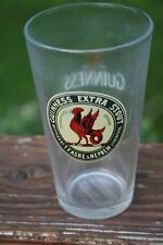 Guinness Foreign Extra Stout Cockatrice Brand Rooster Label Pint Glass