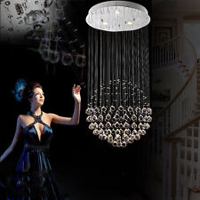 New Spiral Crystal droplet Cascading Ceiling Light Pendant Chandelier Lamp