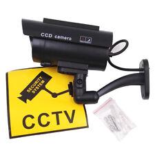 SOLAR POWER DUMMY SECURITY CAMERA FAKE CCTV SURVEILLANCE CAM LED FLASHING LIGHT