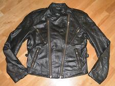 *1980's CAFE-RACER / MOTORCYCLE* vintage black leather biker moto jacket (M/40)