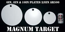 6, 8, & 10in. Pistol/Rifle Targets - AR500 Steel Targets - 3pc. Metal Target Set