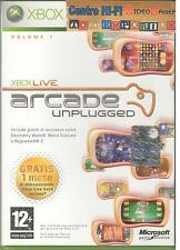 XBOX 360 ARCADE UNPLUGGED VOLUME 1 XBOX LIVE USATO GARANTITO