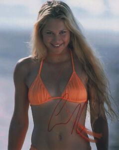 Anna Kournikova Tennis SIGNED 8x10 Photo Bikini COA!