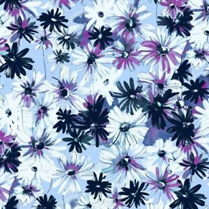 RJR Ink Rose Blue and Purple Flower Cotton Quilt Fabric by the 1/2 Yard