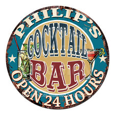 Cpco-0095 Philip'S Cocktail Bar Father's Day Valentine's Day Christmas Gift Sign