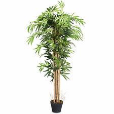 5-Feet Artificial Bamboo Silk Tree Green Indoor-Outdoor Home Decorative Planter