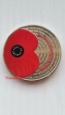 2017*UNC*BAILIWICK OF JERSEY POPPY~LEST WE FORGET £5 FIVE POUND COIN