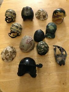 ACTION MAN/ACTION FORCE/DID? 12 VARIOUS HATS & HELMETS