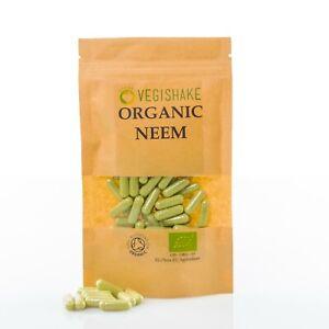 Organic Neem Leaf Azadirachta Indica HPMC Capsules Detox Immune Skin Care Vegan